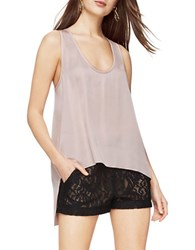 Bcbgmaxazria Lola High Low Tank Top Bare Pink