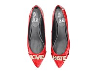 Love Moschino Hate Ballerina Flat Red Women's Flat Shoes