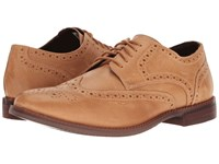 Rockport Style Purpose Wingtip Light Tan Leather Men's Lace Up Wing Tip Shoes Brown