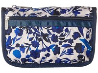 Le Sport Sac Travel Cosmetic Blooming Silhouettes Cosmetic Case Blue