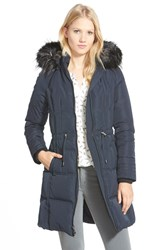 Women's 7 For All Mankind Down Parka With Faux Fur Trim