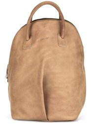 Marsell Pleated Detail Backpack Brown