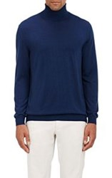 Zanone Flexwool Turtleneck Sweater Blue Size Extra Extra Large
