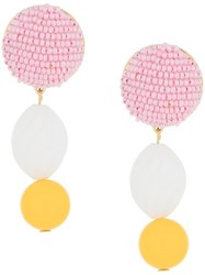 Shourouk Beaded Drop Earrings Multicolour