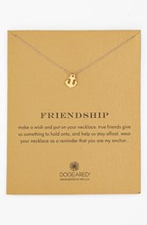 Women's Dogeared 'Reminder Friendship' Anchor Pendant Necklace