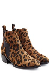Pierre Hardy Animal Printed Suede Ankle Boots Animal Prints