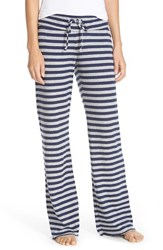 Women's Nordstrom 'Lazy Mornings' Lounge Pants Navy Peacoat Grey Stripe
