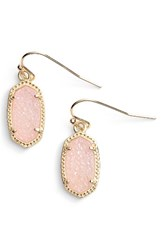 Kendra Scott Women's 'Lee' Small Drop Earrings Light Pink Drusy Gold