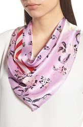 Halogen Print Silk Scarf Purple Fab Mix Match Print