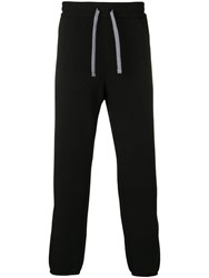 Emporio Armani High Waisted Track Trousers Black