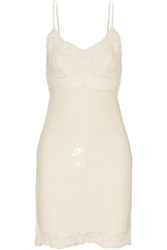 Ashish Lace Trimmed Sequined Silk Georgette Mini Dress