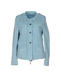 Marc Cain Sports Coats And Jackets Jackets Women Sky Blue