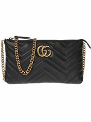 Gucci Gg Marmont Wallet On Chain Black