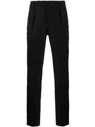 Saint Laurent Double Pleated Tailored Trousers Men Cotton Polyester Viscose Metallized Polyester 52 Black