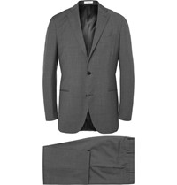 Boglioli Grey Slim Fit Virgin Wool Suit Gray