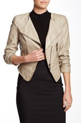 Fillmore The Vegan Leather Jacket Beige