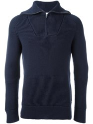 Lacoste Zipped Jumper Blue