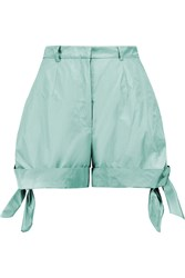 Carven Ruched Shell Shorts Green