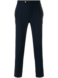 Moncler Gamme Bleu Tailored Trousers Cupro Wool Blue