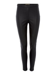 Biba Pu And Ponti Leggings Black