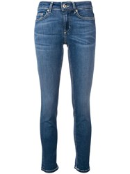 Dondup Skinny Cropped Jeans Blue