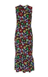 Suno Silk Floral Printed Pencil Dress