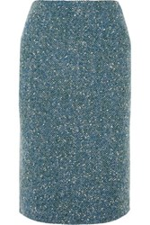 Richard Nicoll Boucle And Wool Blend Pencil Skirt Blue