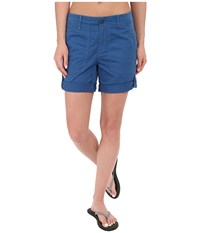 Royal Robbins Marly Roll Up Shorts Dark Lapis Women's Shorts Navy
