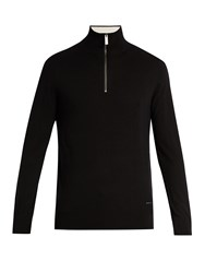 Burberry Half Zip Cashmere Sweater Black