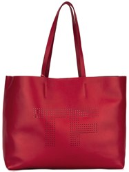 Tom Ford Perforated Tote Red