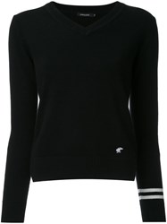 Loveless V Neck Jumper Black