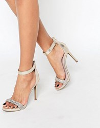 New Look Barely There Heeled Sandals Gold