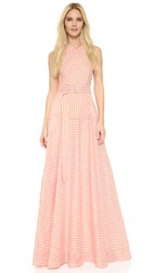 Lela Rose Striped Gown Orange