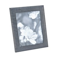 Graphic Image Leather Photo Frame Grey Shagreen 8'X10