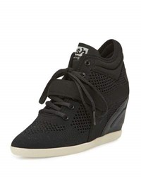Ash Bebop Mesh Wedge High Top Sneaker Jet