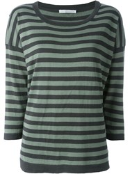 Societe Anonyme Square Cut Knit Top Green