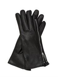 Dsquared Zip Up Nappa Leather Gloves