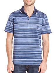 Candc California Pique Striped Polo Blue