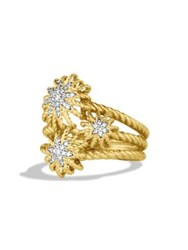 David Yurman Starburst Cluster Ring With Diamonds In Gold Gold Diamond Gold