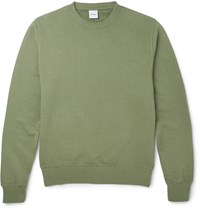 Aspesi Loopback Cotton Jersey Sweatshirt Sage Green
