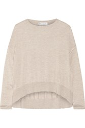 Brunello Cucinelli Cashmere And Silk Blend Top Nude
