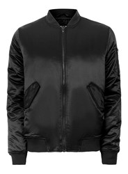 Topman Black Embroidered Tiger Bomber Jacket