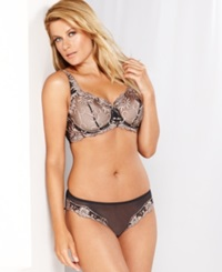Lunaire Sevilla Embroidered Demi Bra 14011 Black Taupe