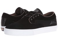 Lakai Riley Hawk Black Suede Brown Men's Skate Shoes
