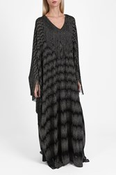 Missoni Lame Fringe Long Kaftan Bronze
