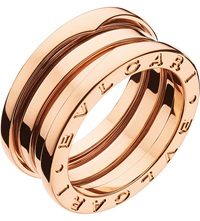 Bulgari B.Zero1 Three Band 18Ct Pink Gold Ring