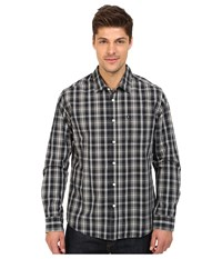 Quiksilver Everyday Check Long Sleeve Everyday Check Black Men's Clothing