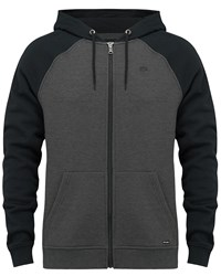 Animal Zip Through Hoody Black