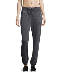Marc Ny Performance Quilted Pocket Drawstring Sweatpants Smoke