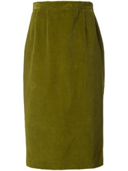 Olympia Le Tan 'Corduroy' Skirt Green